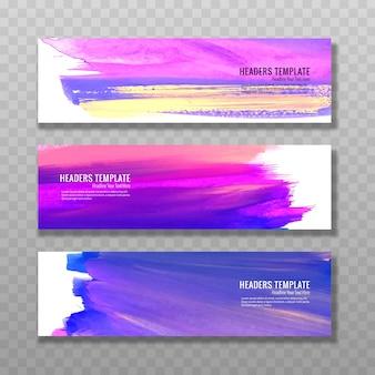 Moderne aquarel baners