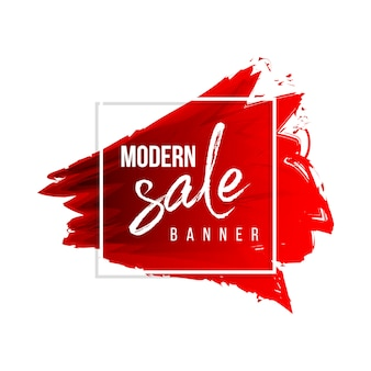 Moderne aquarel verkoop banner