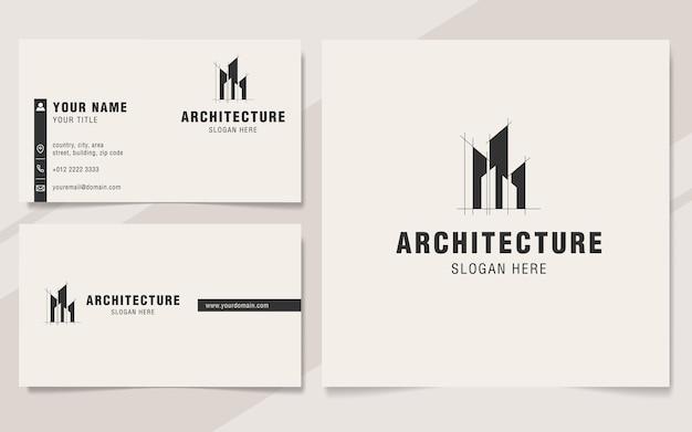 Moderne architectuur logo sjabloon