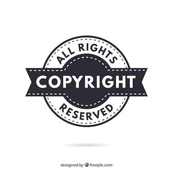 Moderne auteursrechtsymboolsjabloon
