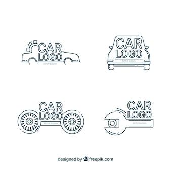 Moderne auto logo set