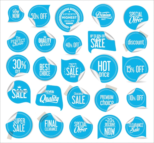 Moderne badges stickers en labels collectie