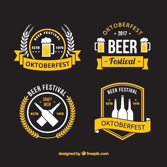 Moderne badges voor de duitse bierfeest