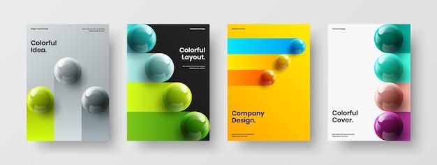 Moderne banner a4 ontwerp vector illustratie bundel