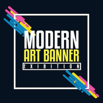 Moderne banner achtergrond