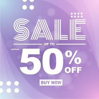 Moderne bannerachtergrond flash-verkoop 50% korting