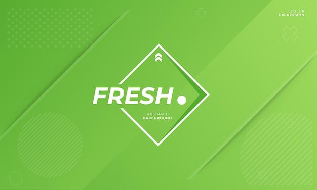 Moderne banners sjablonen met frisse uitdrukkingen in het groen