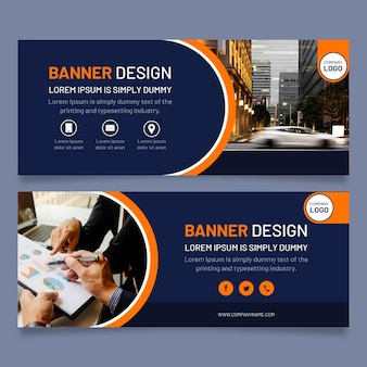 Moderne banners sjabloon