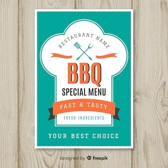 Moderne barbecue restaurant flyer sjabloon