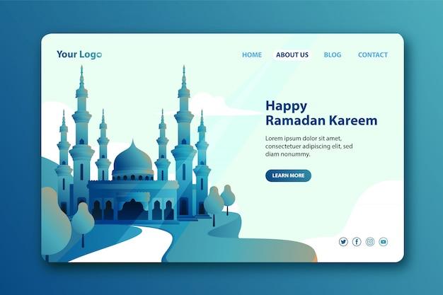 Moderne bestemmingspagina voor de maand ramadan