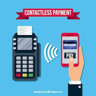Moderne betaalmethoden met plat ontwerp