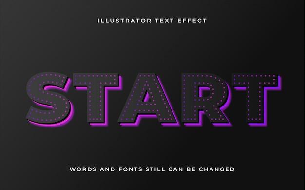 Moderne bewerkbare tekst met lichteffect