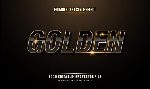 Moderne bewerkbare tekststijl goud effect. bewerkbare tekenstijl.