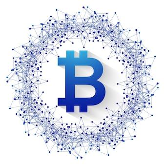 Moderne bitcoin achtergrond