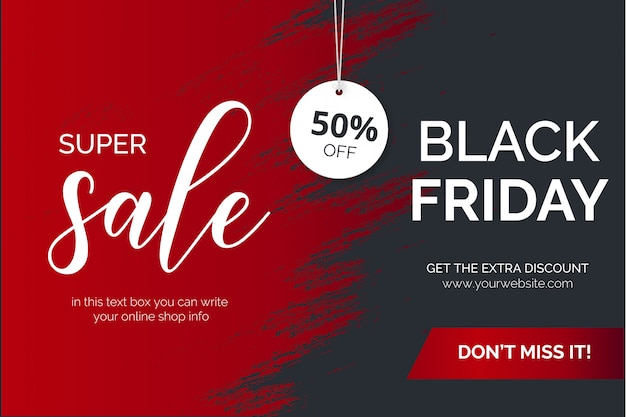 Moderne black friday-penseelstreek super sale