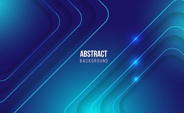Moderne blauwe abstracte glanzende achtergrond Premium Vector