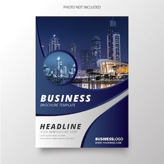Moderne blauwe bedrijfsbrochure