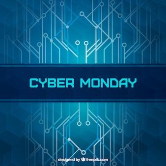 Moderne blauwe cyber maandag achtergrond