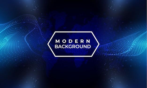 Moderne blauwe dynamische golfachtergrond