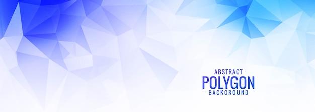 Moderne blauwe en witte laag poly-vormen