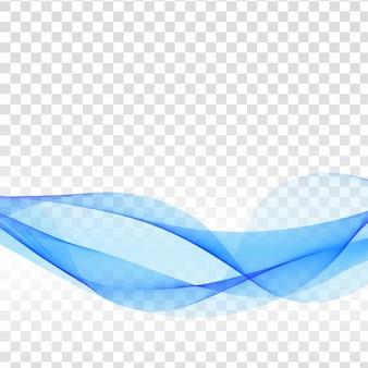Moderne blauwe golf transparante achtergrond