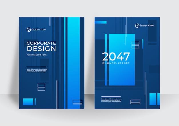 Moderne blauwe huisstijl cover zakelijke vector design achtergrond. flyer brochure reclame abstracte achtergrond. folder moderne poster tijdschrift lay-out sjabloon. jaarverslag voor presentatie.