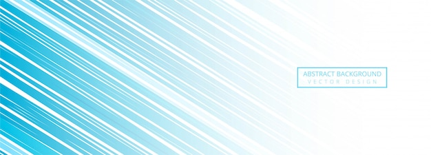 Moderne blauwe lijnen banner achtergrond