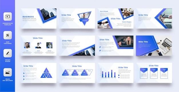 Moderne blauwe multifunctionele presentatiesjabloon