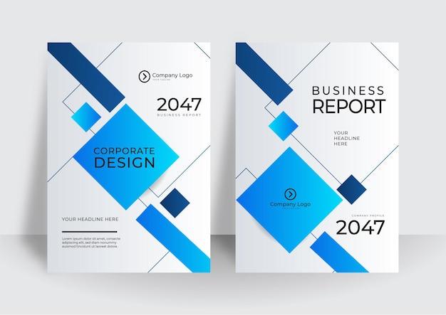 Moderne blauwe omslagontwerpsjabloon. brochure sjabloon lay-outontwerp. corporate business jaarverslag, catalogus, tijdschrift, flyer mockup. creatieve moderne heldere concept cirkel ronde vorm