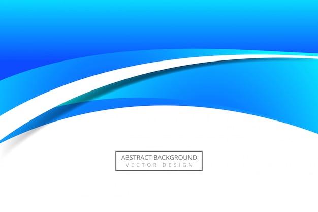Moderne blauwe stromende bedrijfsgolfachtergrond
