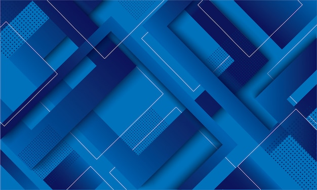 Moderne blauwe vierkante trendy achtergrond met kleurovergang