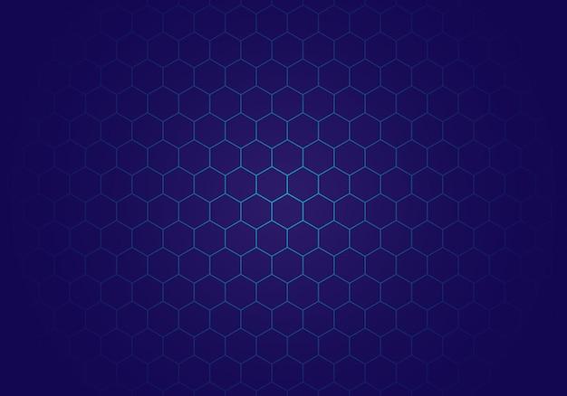 Moderne blauwe zeshoek achtergrond