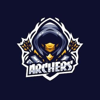 Moderne boogschutter esport logo sjabloon