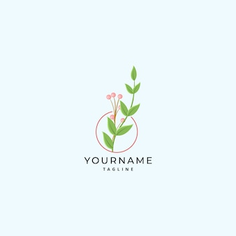 Moderne botanische logo ontwerpsjabloon