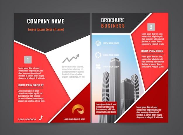 Moderne brochure folder ontwerpsjabloon.
