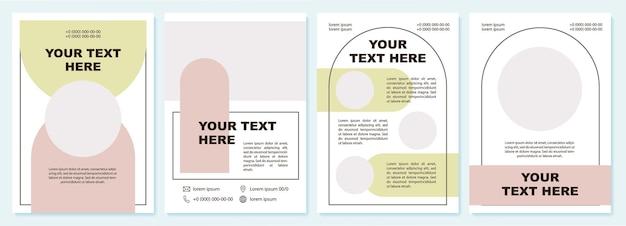Moderne brochure presentatiesjabloon gegevens. flyer, boekje, folder afdrukken, omslagontwerp met kopieerruimte. jouw tekst hier. vectorlay-outs voor tijdschriften, jaarverslagen, reclameposters