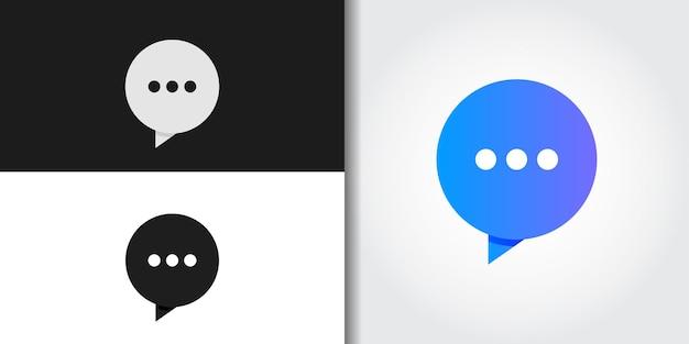 Moderne bubble chat-logo set