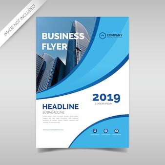 Moderne business flyer ontwerpsjabloon