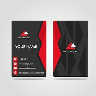 Moderne bussines card donkerrood potrait