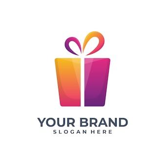 Moderne cadeau-logo vector