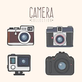 Moderne camera collectie