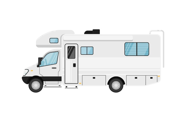Moderne camper van geïsoleerde illustratie