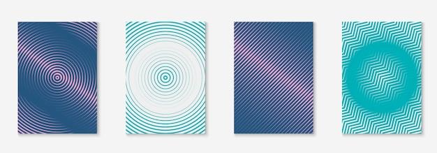 Moderne catalogus met minimalistische geometrische lijn en trendy vormen.