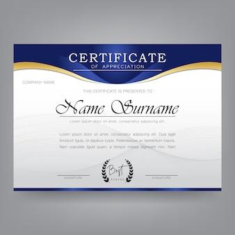 Moderne certificaat ontwerpsjabloon