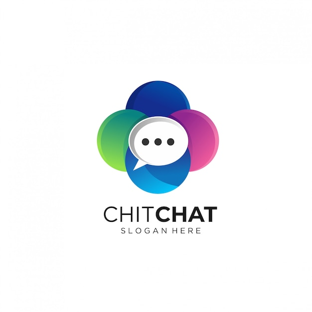Moderne chat logo ontwerpsjablonen