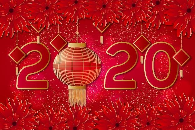 Moderne chinese nieuwjaarachtergrond