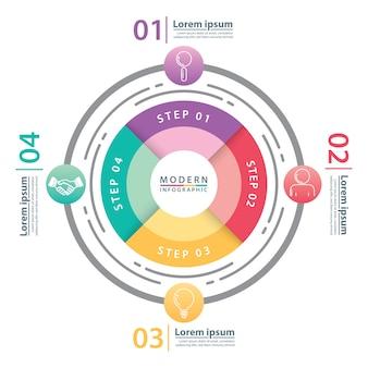 Moderne cirkel infographic.