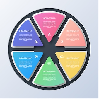 Moderne cirkel infographic