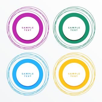Moderne cirkelbanners geplaatst achtergrond