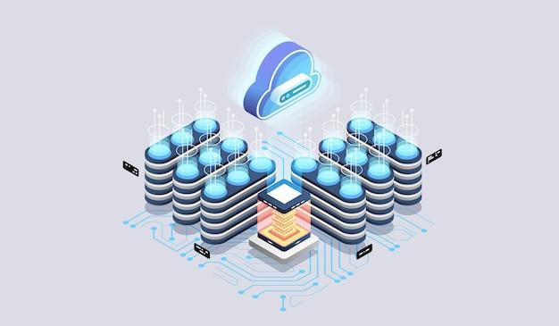 Moderne cloudtechnologie en netwerkconcept